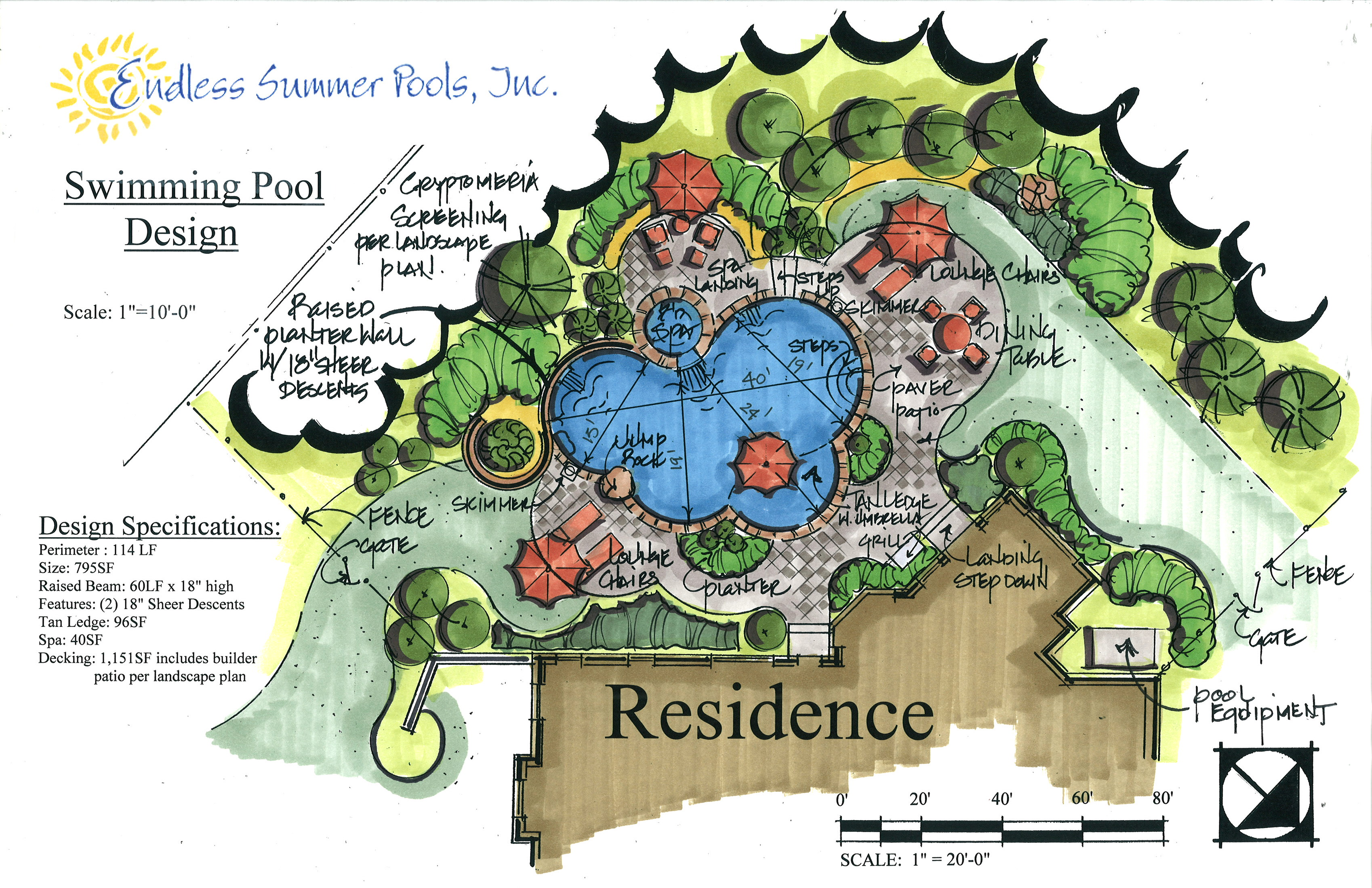 Endless summer pools metro atlanta for Pool design drawings