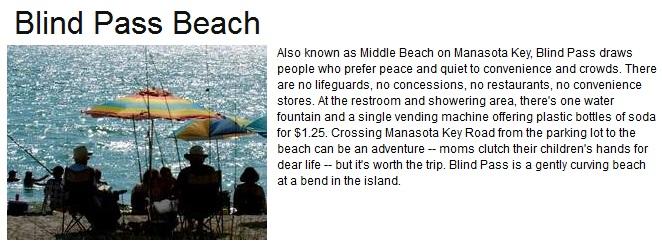 Blind Pass Beach Englewood FL