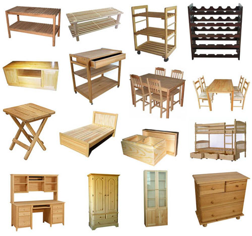 kinds of wood for furniture. real wood furniture and anything made of that has kinds for e