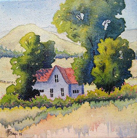 Mary Pat Ettinger Studio   Landscape Paintings, Handwoven Scarves